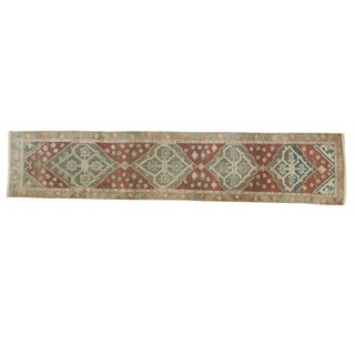 "Antique Distressed Malayer Rug Runner - 2'7"" X 12'"