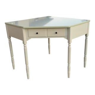 Corner Ivory Writing or Vanity Desk