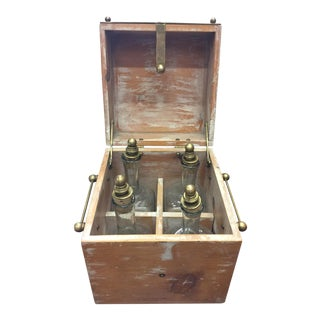 Old Spirits Box & Bottles For Sale