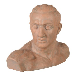 Italian Terra Cotta Male Bust For Sale