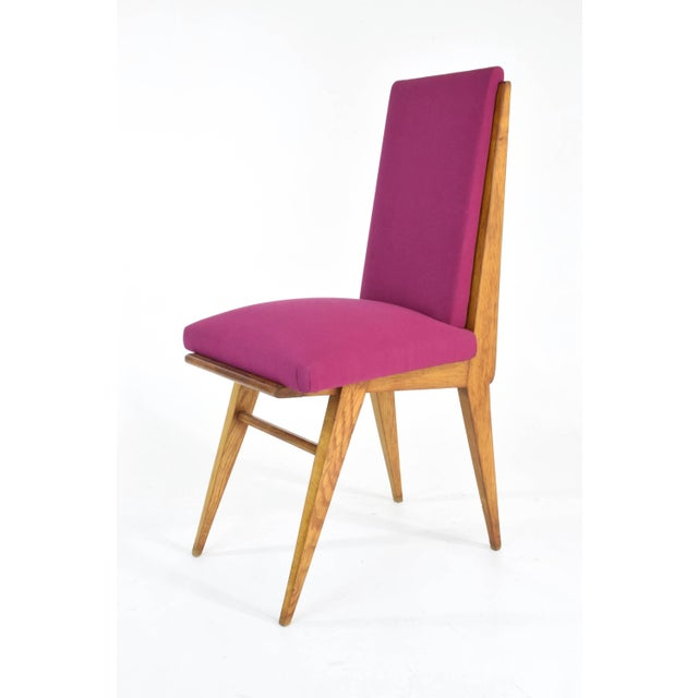 French Art Deco Dining Chairs, Set of Five, 1940s For Sale - Image 6 of 12