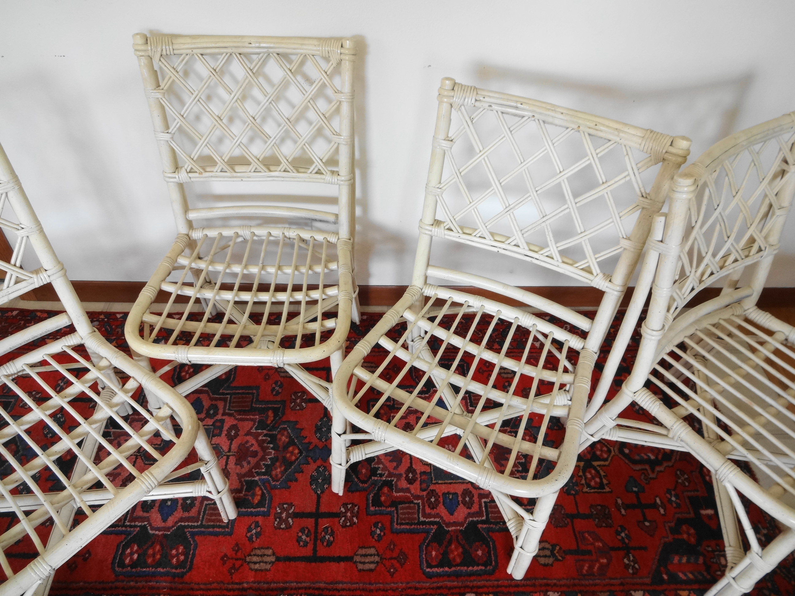 Ficks Reed Rattan Dining Chairs   Set Of 4   Image 5 Of 6