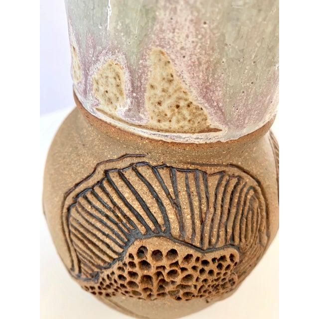 "Vintage Signed ""Moni"" Ceramic Vase, Mid Century Era For Sale - Image 9 of 13"