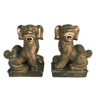 Vintage Pair of Foo Dogs For Sale