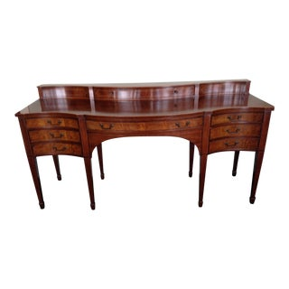 Baker Mahogany & Satinwood Trimmed Console