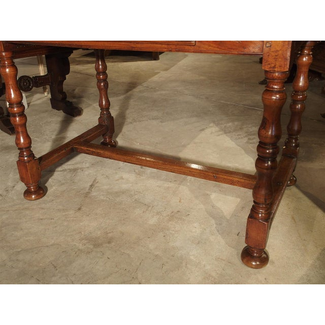 Antique Cherry and Walnut Wood Side Table, 18th Century For Sale - Image 9 of 12
