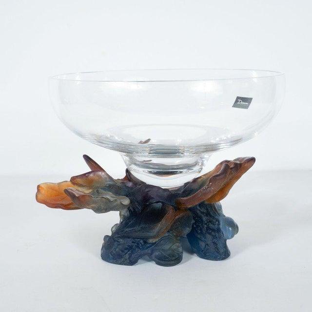 Art Deco Style Crystal and Pâte De Verre Papillon Coupe by Daum For Sale - Image 10 of 13