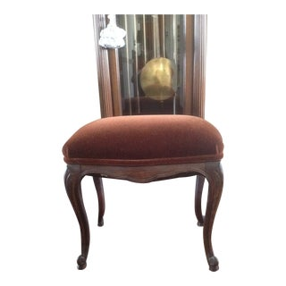 Vintage Chocolate Mohair Upholstery Ottoman For Sale