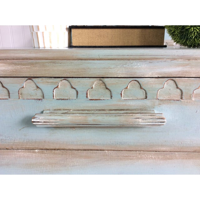 Felt 1930s French Cottage Painted Buffet For Sale - Image 7 of 13