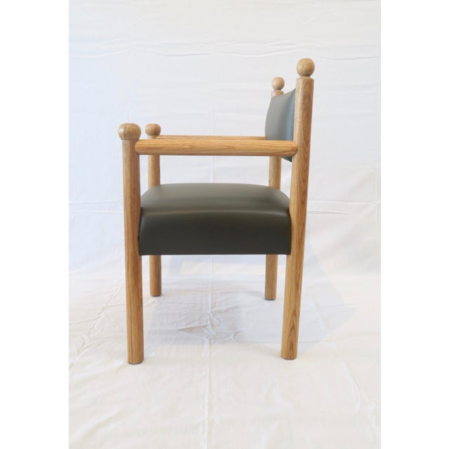 Mid-Century Modern Rustic Modern Style Dining Chair With Turned Finals by Martin and Brockett For Sale - Image 3 of 7