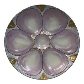 Antique Lavender Oyster Plate For Sale