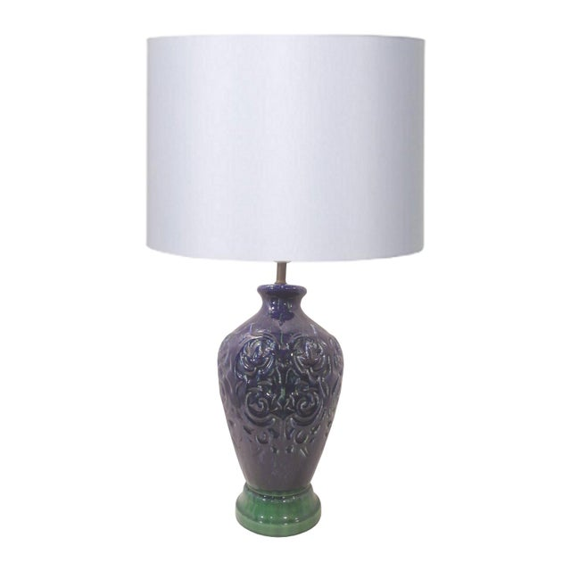 Blue Ginger Jar Ceramic Lamp - Image 1 of 6