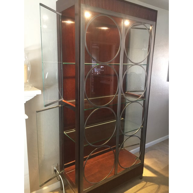 Art Deco Ethan Allen Modern Art Deco Display Cabinet For Sale - Image 3 of 5