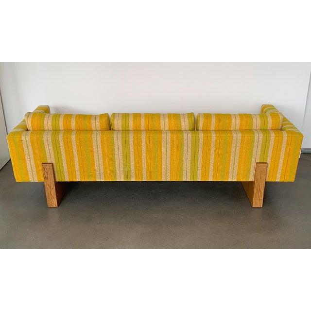 Fabric Harvey Probber Tuxedo Sofa With Oak Legs For Sale - Image 7 of 13