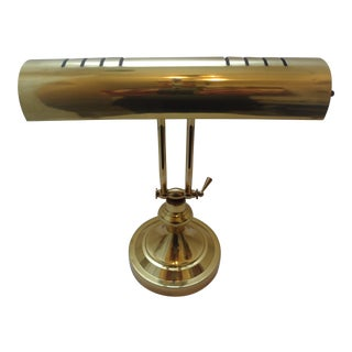Vintage Adjustable Brass Piano Lamp