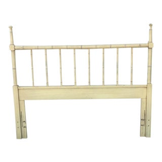 Vintage Henry Link Faux Bamboo Queen Headboard For Sale