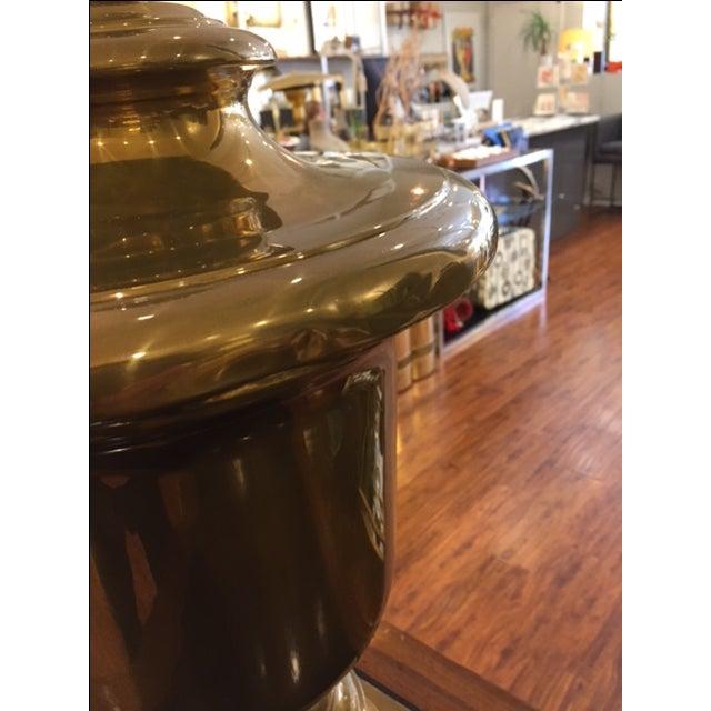 Vintage Monumental Chapman Brass Urn on Base - Image 4 of 7