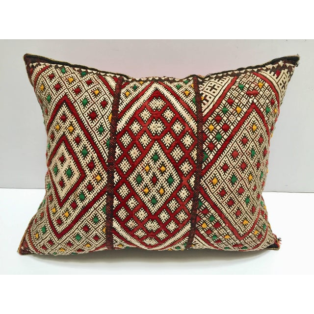 Moroccan Berber Pillow With Tribal African Designs For Sale - Image 10 of 10