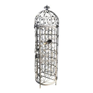 Hollywood Regency Style Wrought Iron Wine Rack