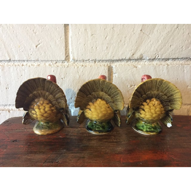 Vintage Napco Turkey Candle Holders - Set of 3 For Sale - Image 5 of 11