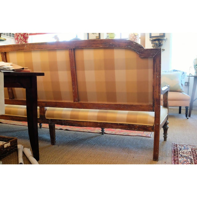 Large French Provincial Upholstered Sofa For Sale - Image 4 of 6