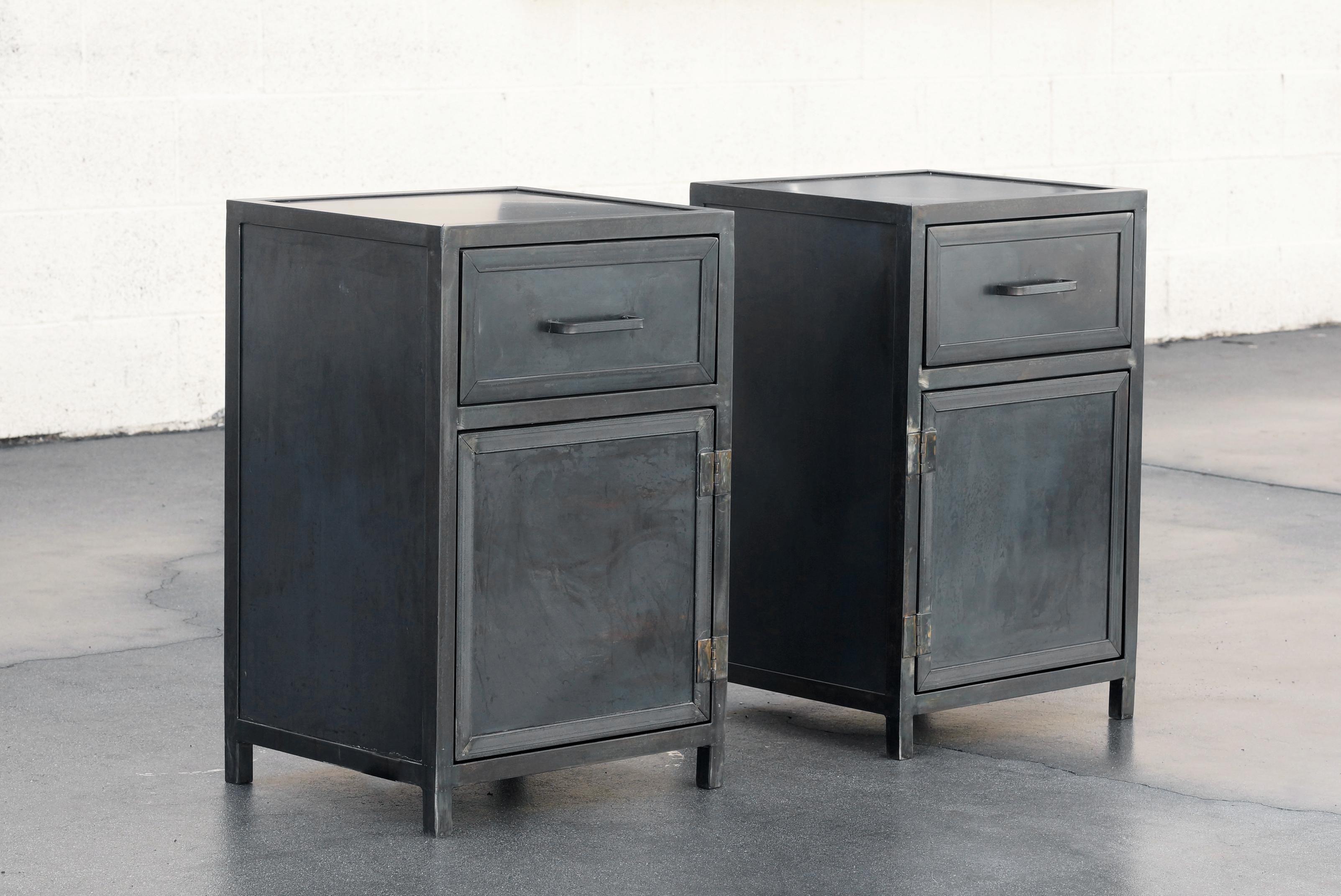 Custom Industrial Steel Nightstand Lowboy Cabinets By Rehab Vintage  Interiors, Available Now And Made To
