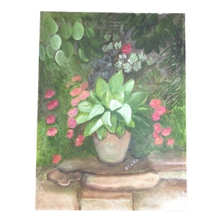 Botanical Garden Acrylic Painting by Lisa Burris For Sale