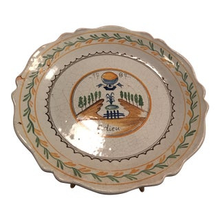 French Painted Ceramic Decorative Plate