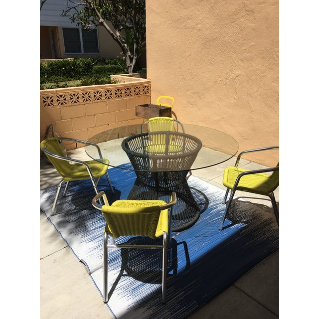 Crate & Barrel Patio Table - Image 3 of 5