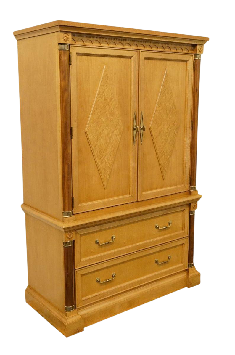 Late 20th Century Vintage Stanley Furniture Italian Provincial Armoire