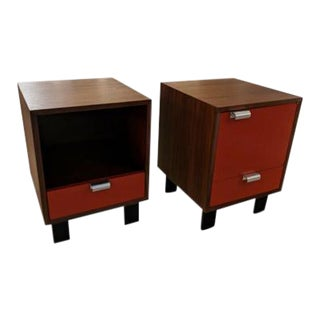 Pair of George Nelson Bedside Tables For Sale