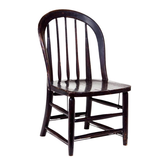 Black English Windsor Chair For Sale
