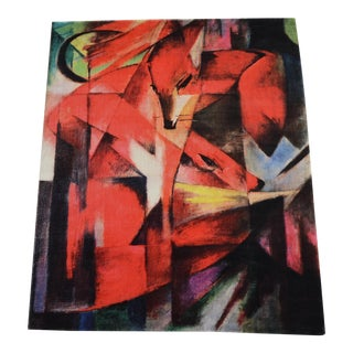 """Franz Marc """"Foxes"""" Inspired Area Rug - 4′10″ x 5′9″ For Sale"""