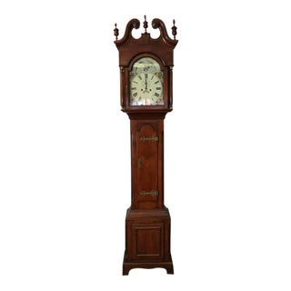 Late 1700's M.B.Allebach High Case Grandfather Clock For Sale