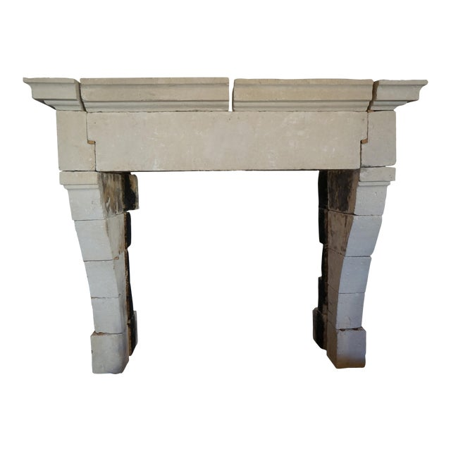Louis XIII Style French Limestone Mantel, circa 1650 For Sale