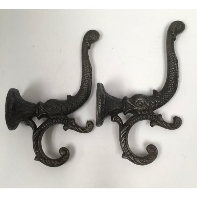 Antique Iron Koi Fish Coat Hooks - a Pair For Sale - Image 10 of 10
