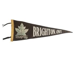 Vintage Brighton, Ont. Felt Flag Pennant