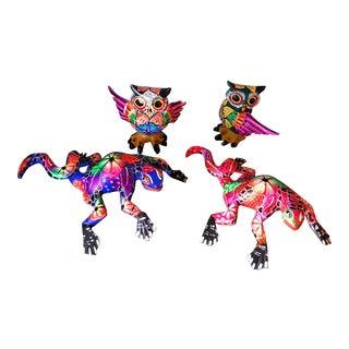 Mexican Alebrijes Figurines - Set of 4 For Sale