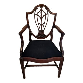 Mid 19th Century Art and Craft Dark Mahogany Armchair France 1860 For Sale