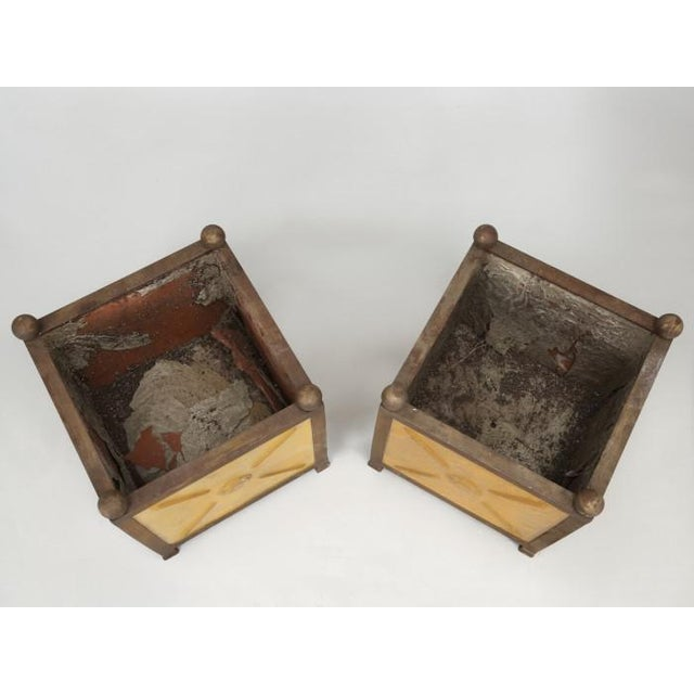 1990s French Orangerie Jardinière Planters - a Pair For Sale - Image 5 of 13