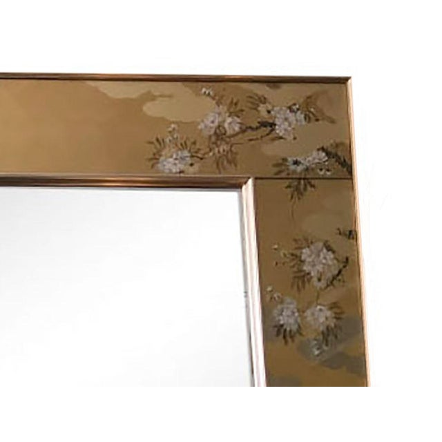 1980s 1980s Contemporary Mirror With Floral Edge For Sale - Image 5 of 6