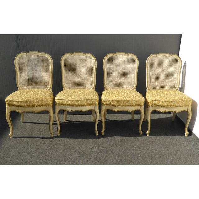 Thomasville French Cane Dining Chairs - Set of 6 For Sale - Image 5 of 11