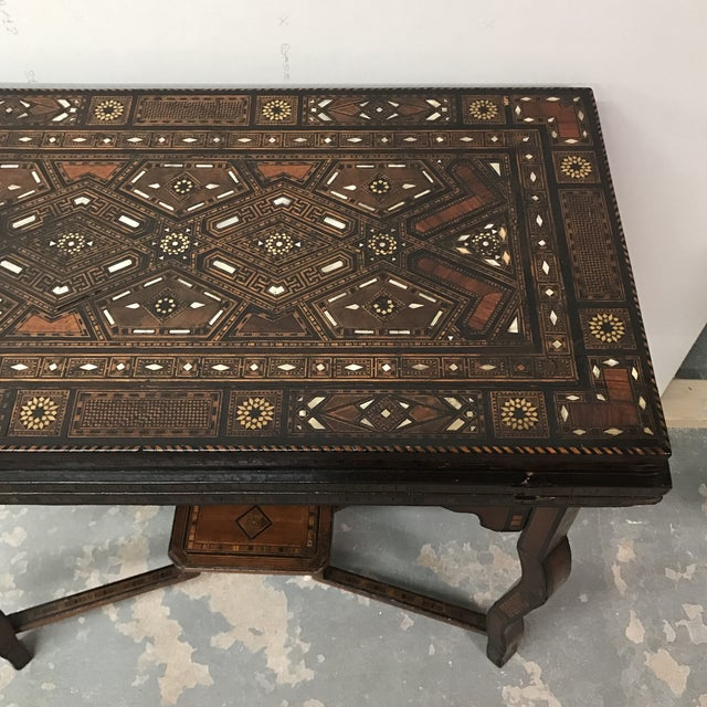 Antique Syrian Inlaid Game Table For Sale - Image 5 of 11