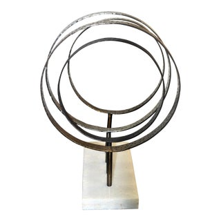 Art Deco Jamie Young Athena Iron Decorative Stand Showroom Sample For Sale