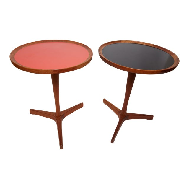 1960s Danish Modern Hans C. Anderson Teak Side Tables - a Pair For Sale