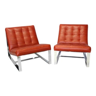 Pair Milo Baughman for Thayer Coggin Lounge Chairs For Sale