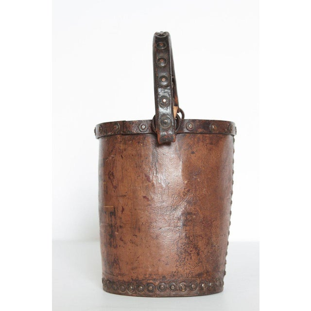19th Century A 19th Century English Leather Fire Bucket For Sale - Image 5 of 13