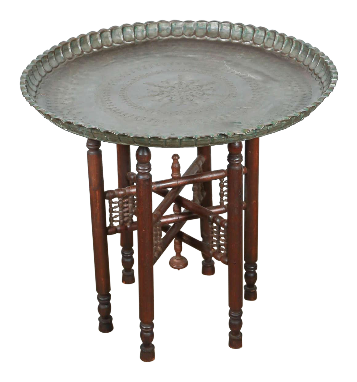 Superieur Persian Mameluke Tray Table On Wooden Folding Stand