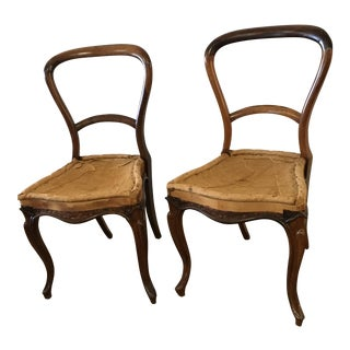Elizabethan Rosewood Chairs - Set of 4