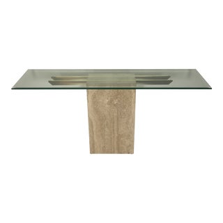 1970s Italian Marble/Brass Artedi Console Table For Sale